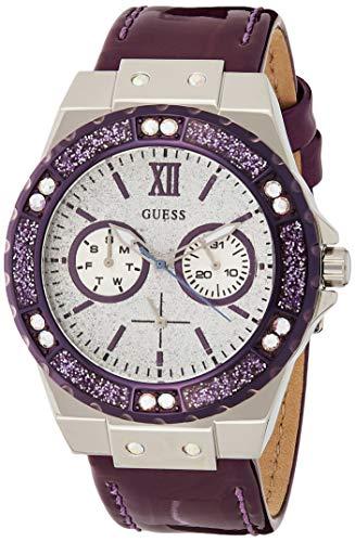 Guess Damen Analog Quarz Uhr mit Leder Armband W0775L6