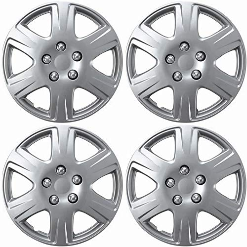 Motorup America Auto Hubcap Set of 4, 15 inch Snap On Wheel Covers - Fits 05-08 Toyota Corolla