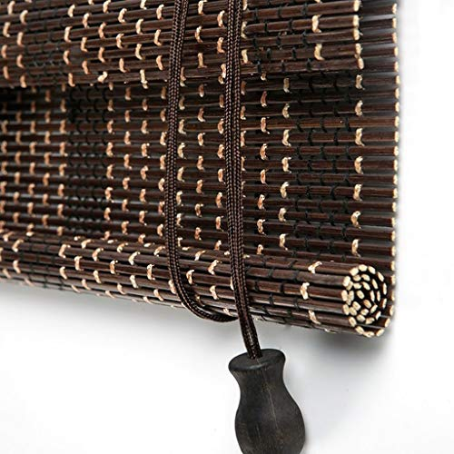 YONG FEI Bambus Vorhang Roller - Vorhang Bambus Vorhang Indoor Sun Curtains Partition Bambus Vorhang Wohnzimmer Schlafzimmer Sonnenschirm mit Kordelzug anpassbar dunkelbraun (mehrere Größen) Bambusjal