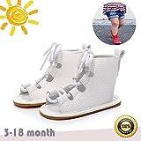 Zapatos de Bebe Niñas, Morbuy Primeros Pasos Verano Suave Zapato Estilo Romano Material de Algodón Sandalias Antideslizante Casual Zapatos de Regalo para Bebe (2 / 11cm / 3-6meses, Blanco)