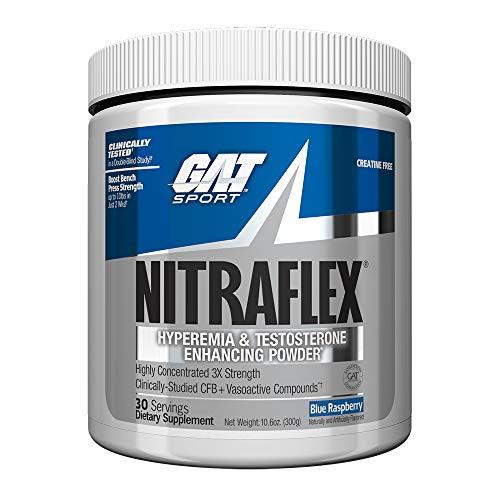 GAT Nitraflex Blue Raspberry Powder, 300 g