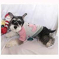 ペット服 ペット犬服ニット犬ソフト肥厚暖かいスウェットシャツ かわいいペット服 (色 : ピンク, サイズ : M)