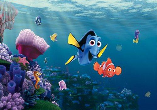 1art1 Findet Nemo - Dorie Und Nemo Fototapete Poster-Tapete 360 x 254 cm