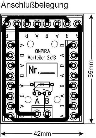 Edelstahlmarkenshop Stromverteiler Verteiler V 2x13 Kontroll Led Incl Montagematerial 8a Belastbar V 2x13 Spielzeug