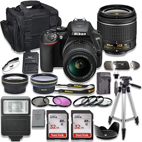 Lowest Prices! Nikon D3500 DSLR Camera with AF-P 18-55mm VR Lens + 2 x 32GB Card + Accessory Kit