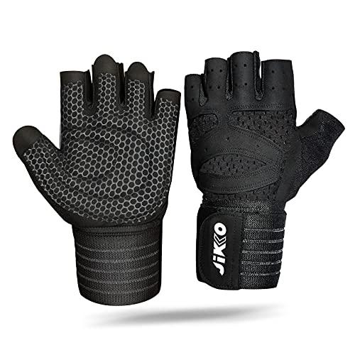 Half Finger Cycling Gloves, Mountain Road Bike Fitness Gloves Anti-slip Shock-absorbing Wrist guard Pad Breathable for Men & Women