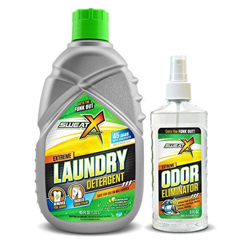 Sweat X Sport Mini Bundle - Sweat X Sport Laundry Detergent | Sweat X Sport Odor Eliminator Spray