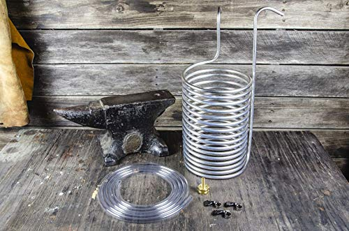 ANVIL IMMERSION CHILLER Stainless Steel Wort Chiller with Hose and Fittings