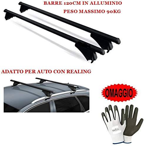 Compatible con Toyota Auris Touring Sports 2020 Barras DE Techo DE Coche 120CM 90KG Barra DE Coche con BARANDILLA FIJADA Completamente AL Techo EN Aluminio Aprobado