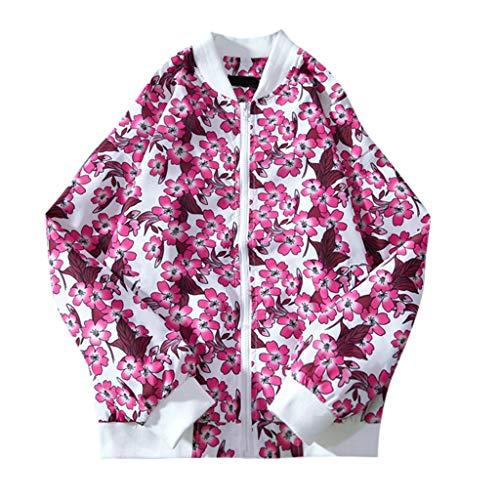 Shineshae Herren Mode Dünn Jacke Mantel Baseballuniform Chinesischer Drache & Blume & Weißer Kran Kleidung Herrenmantel Outdoor Casual...