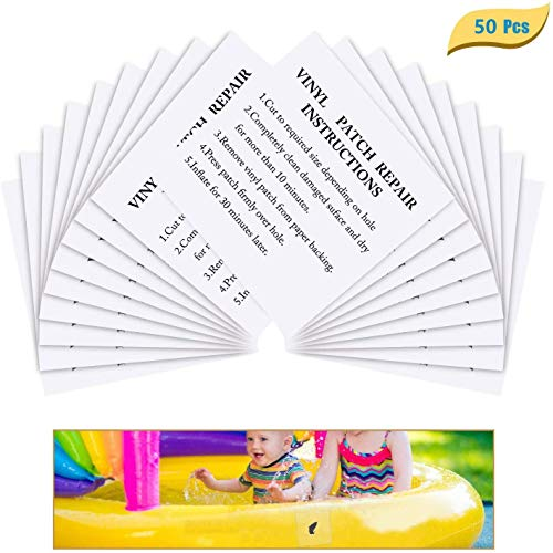 sopplea 50 Stück Reparatur Patch Tape Transparent Reparaturflicken Reparatur-Folie Flicken Folie Klebeflicken Selbstklebender TPU Aufkleber Wasserdicht für Plane Zelte Markisen
