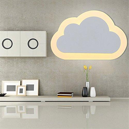 ATD® Chaud Acrylique Blanc Grands nuages en moderne Minimaliste Creative Lampe de chevet (blanc chaud)