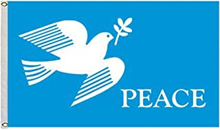 Aihccy The dove of peace love Peach Flag size 3X5 Feet