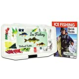 Tailored Tackle Ice Fishing Jigs Lures Kit Walleye Perch Panfish Crappie Bluegill Ice Fishing Gear Tackle Box 75 pcs. Include 26 Page How to Ice Fish Book