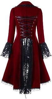 Coat Women,QUINTRA Autumn Winter Warm Comfortable Coat Casual Fashion Jacket Vintage Steampunk Long Coat Gothic Overcoat L...