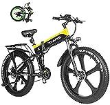 Bicicletas Eléctricas, Batería de Litio 1000W Grasa de Bicicleta eléctrica de 48V for Hombre de la montaña E Bike 21 Velocidades 26 Pulgadas Fat Tire Camino de la Bicicleta de Nieve Bicicleta Pedales