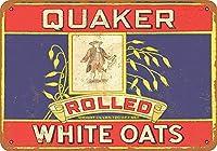 高輝度ブリキ看板-1911クエーカー転がされた白いオート麦ZC077壁看板金属プラークポスター鉄絵警告標識アート装飾用バーホテルオフィスカフェテリア