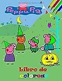 Peppa pig Libro de colorear: Gran libro para colorear para niños de 3 a 9 años. (Español)