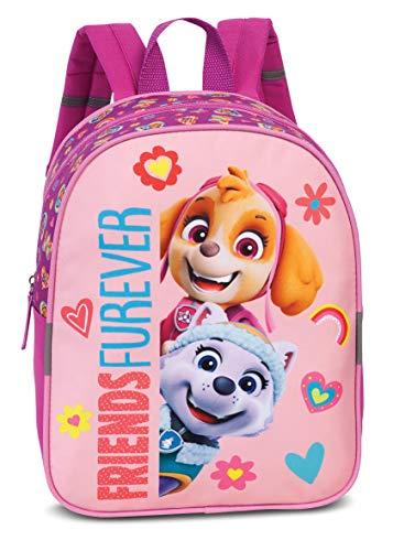 """Paw Patrol Kindergartenrucksack für Mädchen – Kinderrucksack von 2-6 Jahren mit Skye und Everest """"FRIENDS FOREVER"""", Kindergarten und Kita – 29cm x 23cm x 10cm 6L pink"""