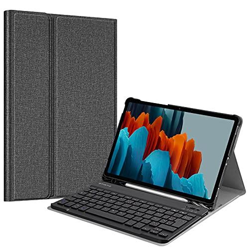 FINTIE Funda de Teclado para Samsung Galaxy Tab S7 11' 2020 (SM-T870/T875), (French AZERTY) Grau