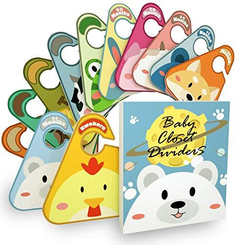 Kimuise Bebé Separadores Paquete de 12 Separadores para armario de Bebé para organizar la tamaños de bebés ropa de recién nacido a 18-24 meses