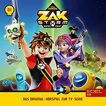 Folge 1: Captain Zak - Teil 1+2 (Das Original-Hörspiel zur TV-Serie)