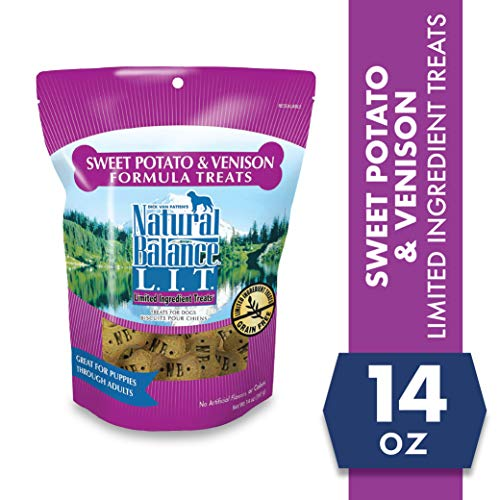 Natural Balance L.I.T. Limited Ingredient Treats Dog Treats, Sweet Potato & Venison Formula, 14 Ounce Pouch, Grain Free