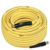 WYNNsky Hybrid Air Hose 3/8 in.X 100ft, 1/4'MNPT Fittings, 300 PSI Max Working Pressure,Non-Kinking, Lightweight,...