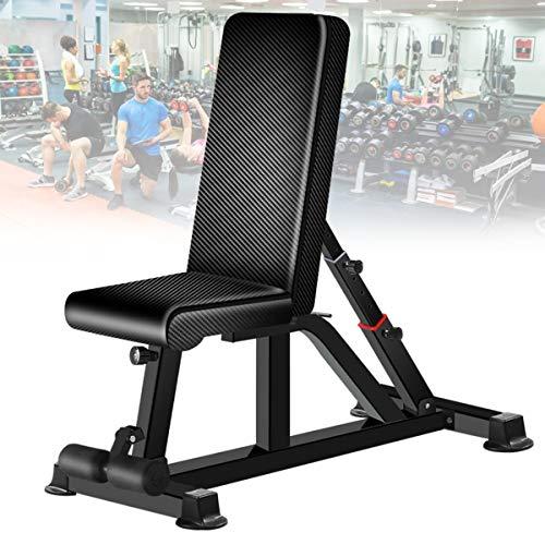 banco ejercitador athletic works con barra y pesas negro fabricante EnweTon