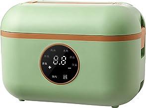 Rijstdoos, elektrisch, draagbaar, voor op het bureau, rijst, stoom met stoom, warmhoudbox, draagbaar, kleur: groen, maat: ...