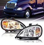 TORQUE Freightliner Columbia Headlight 1996-2017 Right Left Pair Side Set with All Bulbs (TR026-L, TR026-R)