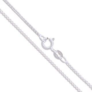 CHOOSE YOUR CLASP Sterling Silver 1.3mm Box Chain Necklace