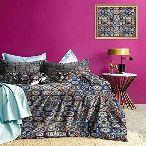 Cubiertas de Ropa de Cama Círculos en Forma de Anillo Juegos de Cama para ni?os Lujo Fresco Ligero