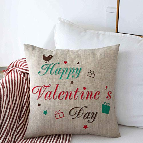 Throw Pillow Covers 16' x 16' Christmas Red Friendship Valentines Day Love Abstract Message Happy Holidays Amour Anniversary Aroma Cushion Square Linen Case for Winter Home Decorative