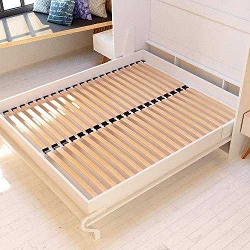 Schrankbett 160×200 weiss mit Gasdruckfedern, ideal als Gästebett – Wandbett, Schrank mit integriertem Klappbett, SMARTBett - 8
