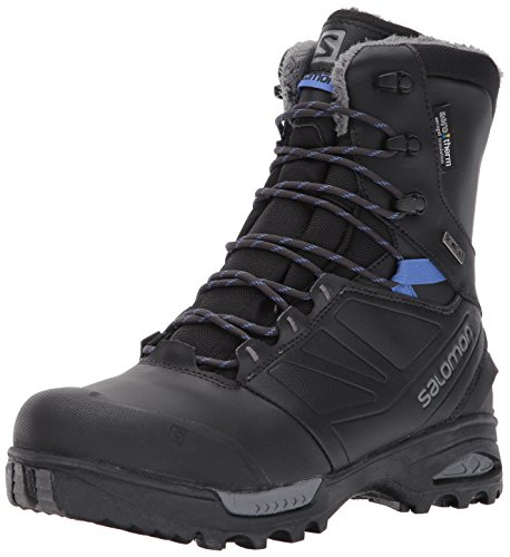 Salomon Women's Toundra Pro CSWP Snow Boots, PHANTOM/Black/Amparo Blue, 8