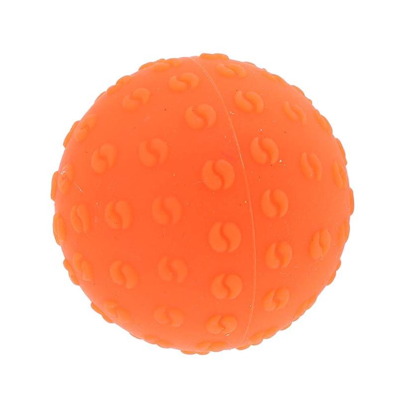 ブランド名口述する差し控えるマッサージボール 指圧ボール シリコーン トリガーポイント 足底筋膜炎 ヨガ ツボ押しグッズ 全6色 - オレンジ, 説明のとおり