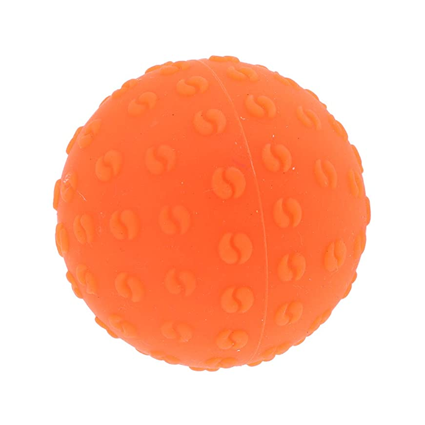どっち高める平凡Fenteer マッサージボール 指圧ボール シリコーン トリガーポイント 足底筋膜炎 ヨガ ツボ押しグッズ 全6色 - オレンジ, 説明のとおり