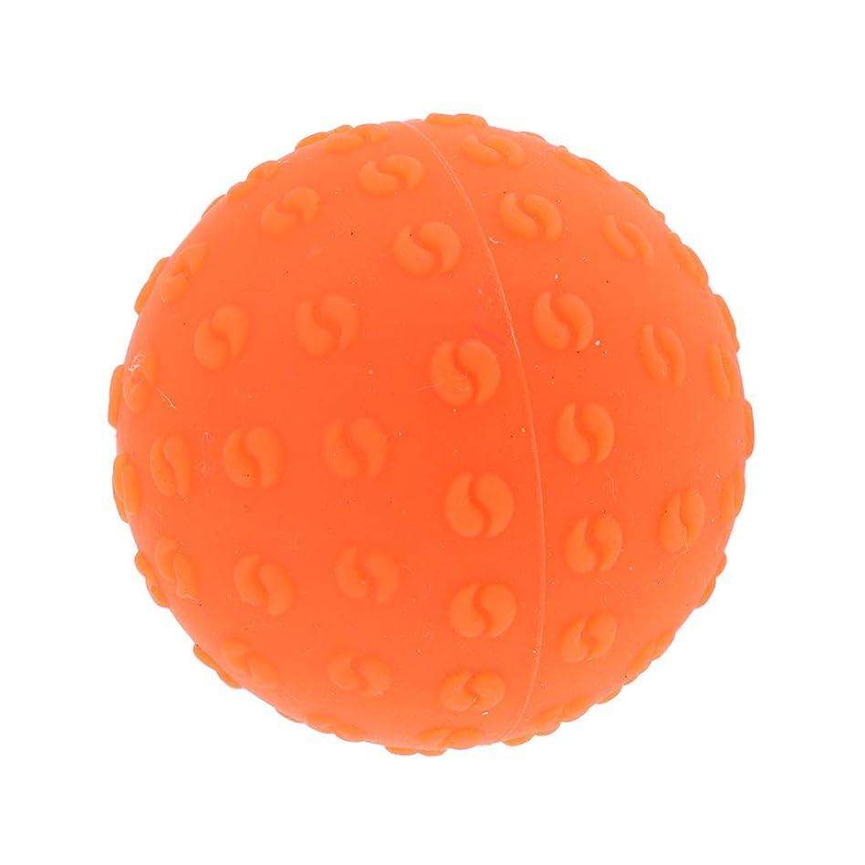 ちょっと待って嬉しいです干渉Fenteer マッサージボール 指圧ボール シリコーン トリガーポイント 足底筋膜炎 ヨガ ツボ押しグッズ 全6色 - オレンジ, 説明のとおり