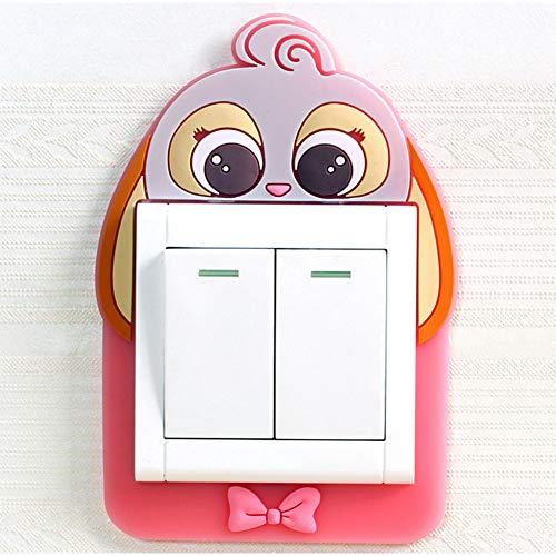 1pc 3D Luminous Kaninchen Lichtschalter Aufkleber Silikon Removable Selbstklebende Surround-Abdeckung Glitter-Wand-dekor Für Hauptdekor