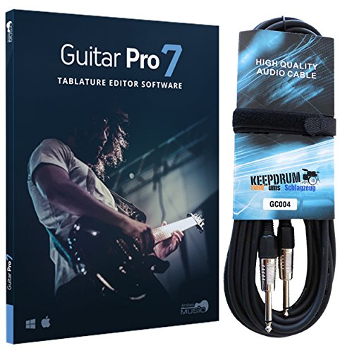 Arobas Guitar Pro 7.5 Notations-Software + keepdrum Gitarrenkabel 6m