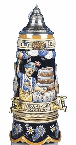 KING Jarra de Cerveza Alemana surtidor de Cerveza Alemana, Jarra 1 litro