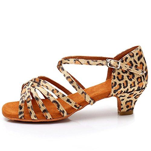 YKXLM Mujeres&Niña Zapatos Latinos de Baile Zapatillas de Baile de salón Salsa...