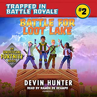 Battle for Loot Lake: An Unofficial Fortnite Adventure Novel audiobook cover art