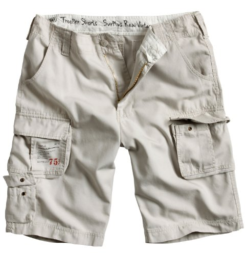 Surplus Trooper Cargo Shorts Oversize, off-white, Groesse 4XL