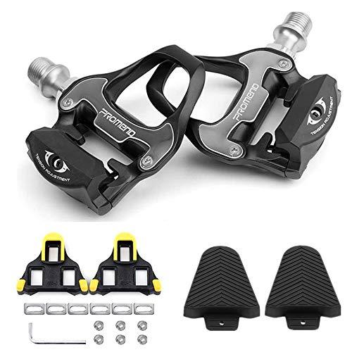 Forbest Bike Pedals Road Bike Pedals Ultralight SPDSL Pedals  SPDSL Cleat Set  Cleat Covers 3 in 1