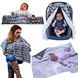 The World's Softest CozyBaby 4-in-1 Carseat Canopy & Nursing Cover. 4...