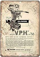 オリバー船外モーターボートヴィンテージティンサイン装飾ヴィンテージ壁金属プラークカフェバー映画ギフト結婚式誕生日警告のためのレトロな鉄の絵