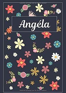 Angéla: Agenda Personnalisé   Journal   120 pages   A4   Blanc   Idées Cadeaux