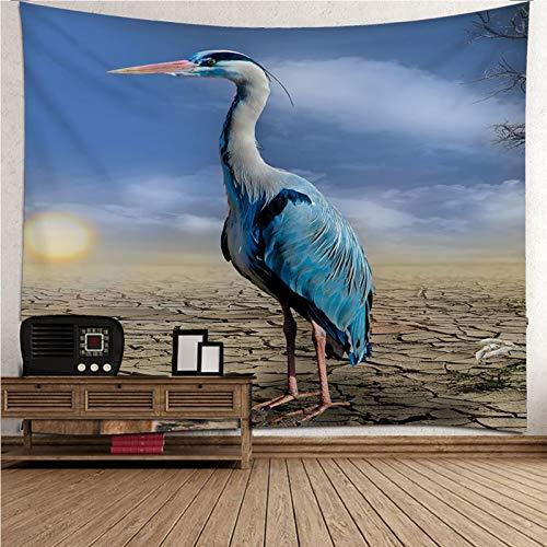 Aeici Tapiz De Tela, Wall Decoration Gran Garza Azul Tapiz Pared Wall Hanging, Bedsheet(200X200Cm)